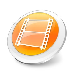 Orange 3d movie icon/logo