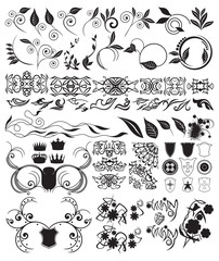 retro and floral details for design