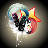 Music speaker vector design