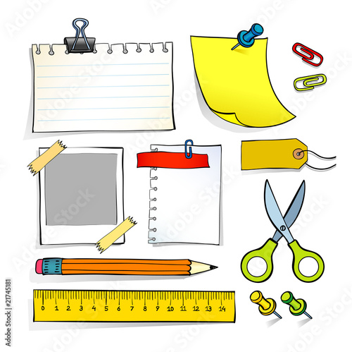 Vector sketch illustration of stationery for travel