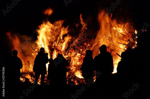Leinwandbild Motiv Hexenfeuer - Walpurgis Night bonfire 55