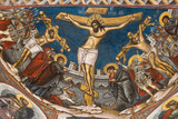 Crucifixion of Jesus. Icon from Modovita monastery