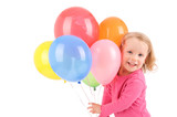 Fototapety Girl with balloons
