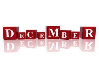 december in 3d cubes