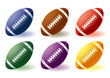Different Rugby balls