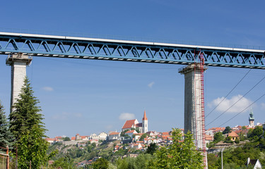 Znojmo with railway viaduct, Czech Republic