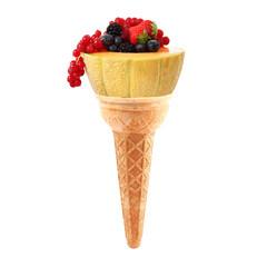 gelato di melone e frutti di bosco