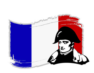 the vector Napoleon Bonaparte head