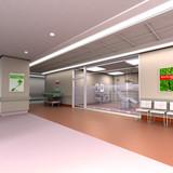 Hospital interior poster