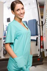 Attractive paramedic