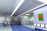 Modern hospital poster