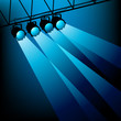 Blue Stage Lighting