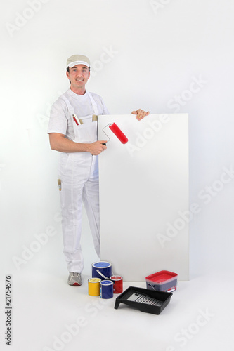peintre en b timent de auremar photo libre de droits 21754576 sur. Black Bedroom Furniture Sets. Home Design Ideas