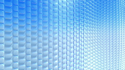 Abstract waving blue scales, seamless loop