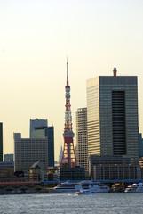 Hamamatsucho with Tokyo Tower, Tokyo, Japan