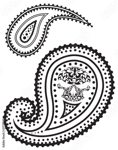 Black and White Paisley Party Supplies at Birthday Direct