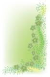 Refined Floral vignette. In Color. Eau-forte EPS-10. poster