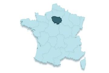 région ile de france 3d détouré ombré
