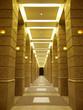long corridor in modern building
