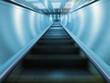 Moving escalator in subway station