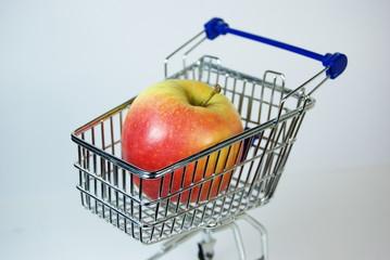 Einkaufswagen Apfel