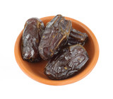 Medjool dates in a dish