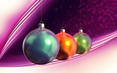 Christmas shiny balls