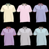 Polo shirts with cool colors