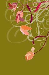 Flowers and tendrils illustration