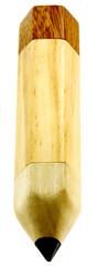 plumier bois, range crayons, fond blanc