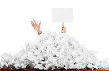 Worker buried in paperwork