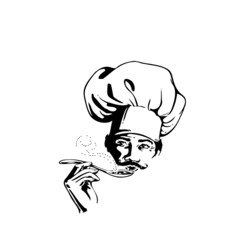 cuisinier, chef, illustration