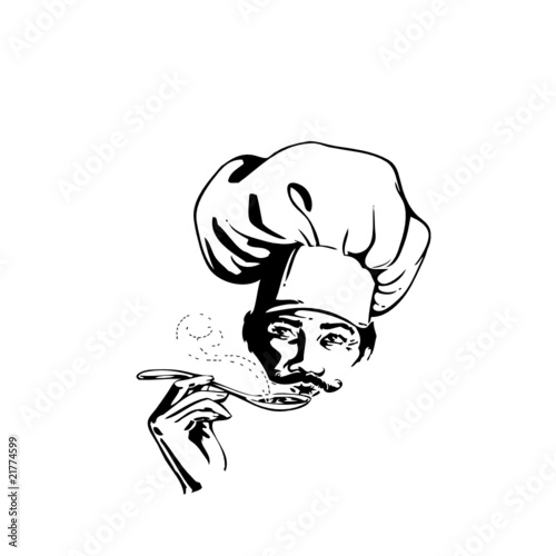 Cuisinier chef illustration fichier vectoriel libre de for Cuisinier 2010