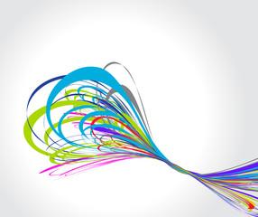 rainbow wave line