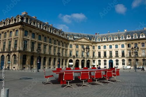 Meeting in Place Vendome, Paris