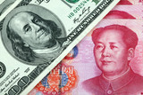 US dollar and Chinese yuan poster