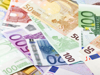 fondo con billetes de euro