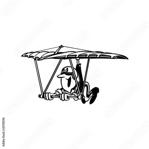 Line Art Xl 2010 : Quot deltaplane illustration fichier vectoriel libre de