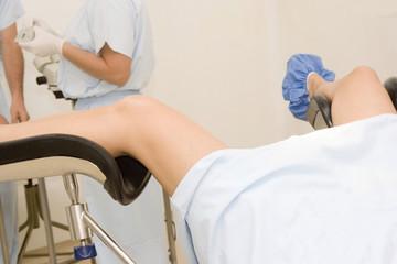 Gyneacological exam in hospital