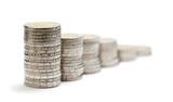 bénéfices en augmentation - bar chart en euro sur fond blanc poster