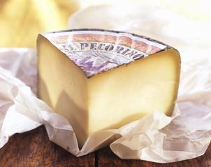 A Wedge of Pecorino Romano Cheese