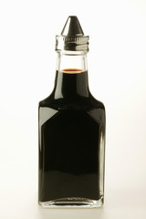 Soy sauce in small bottle