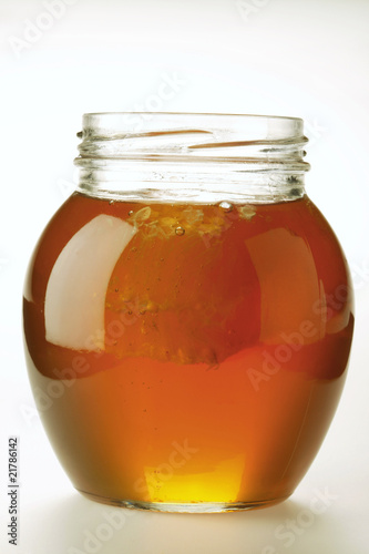 Honey in a Glass Bowl