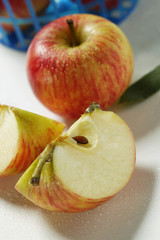 Fresh apple and apple wedges