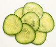 Several slices of cucumber