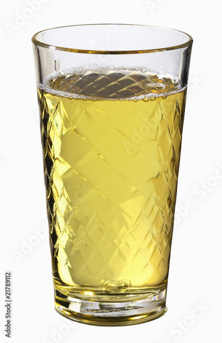 Apple wine in a glass