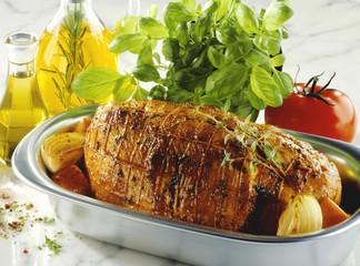 Roast pork roll, Mediterranean style