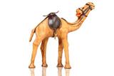 Brown leather camel, souvenir from dubai, united arab emirates