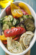 Grilled vegetables (overhead view)