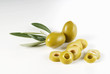 Green olives, whole and sliced